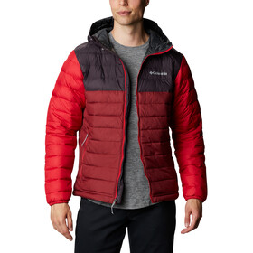 Columbia Powder Lite Veste à capuche Homme, red jasper/dark purple/mountain red